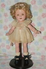 "PRETTY! Vintage 13"" Shirley Temple Composition Doll"