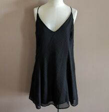 Nasty Gal After Party Women's XS Hot To Dot Dress A-Line Mini Party Black