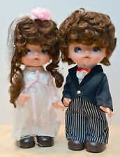 Watanabe Toy Wedding Bride & Groom Dolls pair Japanese Made Cute Brand New