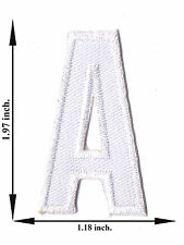Alphabet A White Color English Letter Applique Iron on Patch Sew For T-shirt