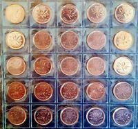 Canada 2000 - 2012 25 Coin UNC Gem BU Set!!