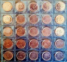 Canada 2000 - 2012 25 Coin UNC Gem BU Set - Includes 2006P!!