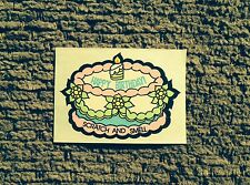 Vintage Scratch & Sniff Stickers - 3M/Mello Smello Birthday Cake  - EXC - STRONG