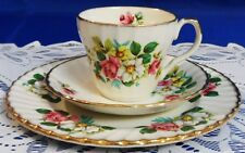 TEA SET TRIO ROYAL CROWN STAFFORDSHIRE ENGLAND - MARKED - RARE FIND - BEAUTIFUL