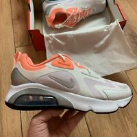 Nike Women's Air Max 200 Trainers Size UK 7 EUR 41 White CJ0629 103 NEW