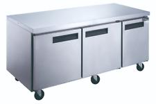 """New 3 Door 72"""" Under Counter Refrigerator Worktop Cooler Nsf Dukers Duc72R #2153"""