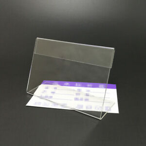 30x Acrylic Shelf Label Holder Price Tags Plastic Transparent Price Tag for Shop