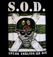 S.O.D. cd cvr SPEAK ENGLISH OR DIE Official SHIRT LAST SMALL storm troopers OOP