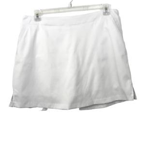 Lady Hagen Skort Est. XL Golf Tennins White Stretch Back Zip Slash Pockets