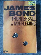 IAN FLEMING THUNDERBALL VINTAGE PAN 1ST ED JAMES BOND P/B w/BULLET HOLES COVER