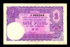 Sarawak:P-NL,1 Picul,1941 * Coupon for Dry Rubber * RARE *