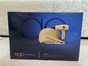 Ego Professional Shimmer Travel Set Straightener And Hairdryer Gold RRP £70.