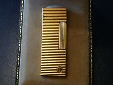Dunhill Rollagas Gold Plated Lighter with Horizontal Lines comes  Boxed
