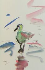 JOSE TRUJILLO MODERN ARTWORK ORIGINAL Watercolor DUCK ARTIST SIGNED FINE ART