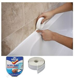 POLYCELL SEALANT FOR BATHROOMS,KITCHENS WHITE L SHAPE SEAL STRIP TAPE 22MM/41MM