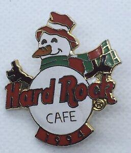 Hard Rock Cafe SNOWMAN PIN 1994 CHRISTMAS Scarf Vintage
