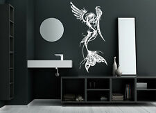 Wall Vinyl Room Sticker Decal Mural Design Mermaid Angel Wings Nymph Art bo2258