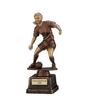 23cm Female Footballer Football Trophy Award Girl Of The Match Trophies