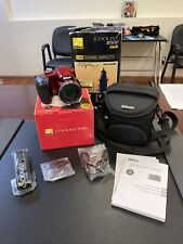 Nikon B500 Nikon Coolpix Red 16 MP Camera With Accessories/ Case **Please Read**