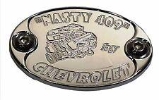 E6028-CS25N Aluminum Metal Car Badge  CHEVY 409 Engine, Fender, Hood 6061 - USA