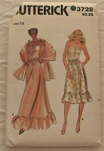 Vintage Dress Sewing Pattern* Butterick 3728*Size 14*UNCUT*sundress*stole*gown