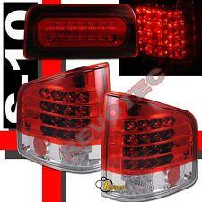 94-04 Chevy S10 Pickup Sonoma Red LED Tail Lights & LED 3rd Brake Light