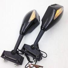 Turn Signal Mirror fit for Kawasaki Ninja 500 ZX7R ZX6R ER6F 636 Z750 Gloss bkc