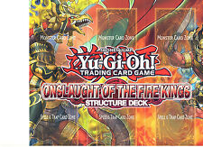 YU-GI-OH PLAYMAT FROM THE ONSLAUGHT OF THE FIRE KINGS DECK (PAPER PLAYMAT)