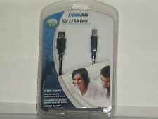 6.5FT USB 2.0 A/B CABLE PC AND MAC COMPATIBLE