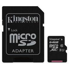 KINGSTON MICRO SDXC C10 64GB 64G 64 G CLASS 10 UHS-I U1 MICRO SD XC MEMORY CARD