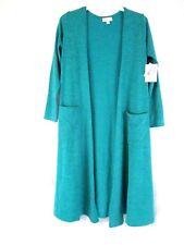 LuLaRoe Womens Sarah Cardigan Sweater Sz M Green Open Front Long CB51M NWT