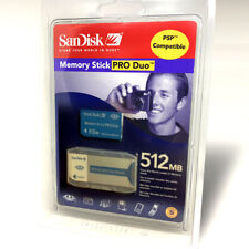 NEW SEALED Sandisk 512MB Memory Stick Pro Duo Card w/Adaptor for Sony Camera PSP