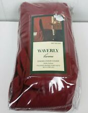 Waverly Home Red Dining Chair Cover 100% Cotton Damask textured