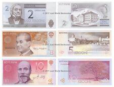 Estonia 2 + 5 + 10 Krooni Set of 3 Banknotes 3 PCS UNC