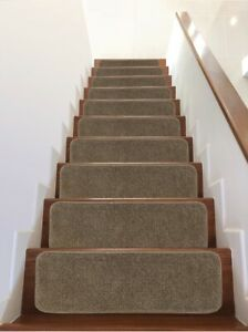 """Safe Steps Collection Non Slip Area Rug Stair Tread (13-Pack, Brown, 9""""x26"""")"""