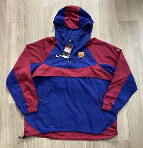 Nike FC Barcelona Soccer 2019/20 Pullover Convertible Jacket (CW2934-455) Sz L