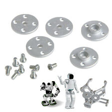 Mechanical Metal Arm Paw Horns For 25T x 20mm RC Robot Servos Round 5 Sets Disc