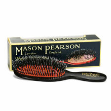 Mason Pearson Large Size BN1 Popular Bristle&Nylon Hairbrush – Dark Ruby
