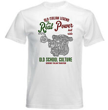 VINTAGE ITALIAN LANCIA DELTA ENGINE CAR - NEW COTTON T-SHIRT