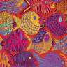 KAFFE FASSETT BRANDON MABLY SHOAL BM51 TOMATO COTTON FABRIC FAT QUARTER