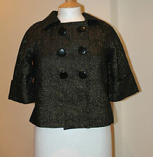 Atmosphere Black Gold Shimmer Textured Jacket Size 12