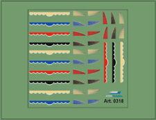 H0/1:87 DIS0318 Decals•Vorhänge für LKW Zugmaschienen,verschiedene Farben