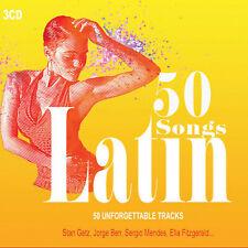 3CD 50 Songs Latin Jazz Bossa Nova Latina Partido Musica Latina Americano