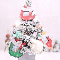 Eg _ Trendy Babbo Natale Pupazzo di Neve Calzino Foto Cornice Albero Decorazioni