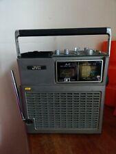 JVC VINTAGE RETRO PORTABLE TV RADIO TUNER RARE MODEL 3050UK WORKING CONDITION
