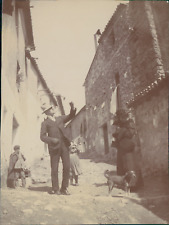 Espagne, Buñol, Une rue, 1908, Vintage citrate print Vintage citrate print