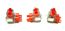 NEW LOT OF 3 THOMAS & BETTS CSB 4-2 CLEAR INSULATED CONNECTOR BLOCKS