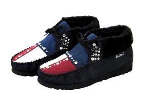 Montana West Winter Faux Fur Lined Suede Boots Shoes Jeweled Design WCO-BTS005