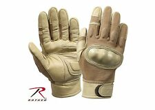 Rothco 3492 Flame and Heat Resistant Hard Knuckle Tactical Gloves - Coyote Brown
