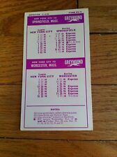 vintage Greyhound Bus Schedule '68 Transporation Collectible Leave Driving To US
